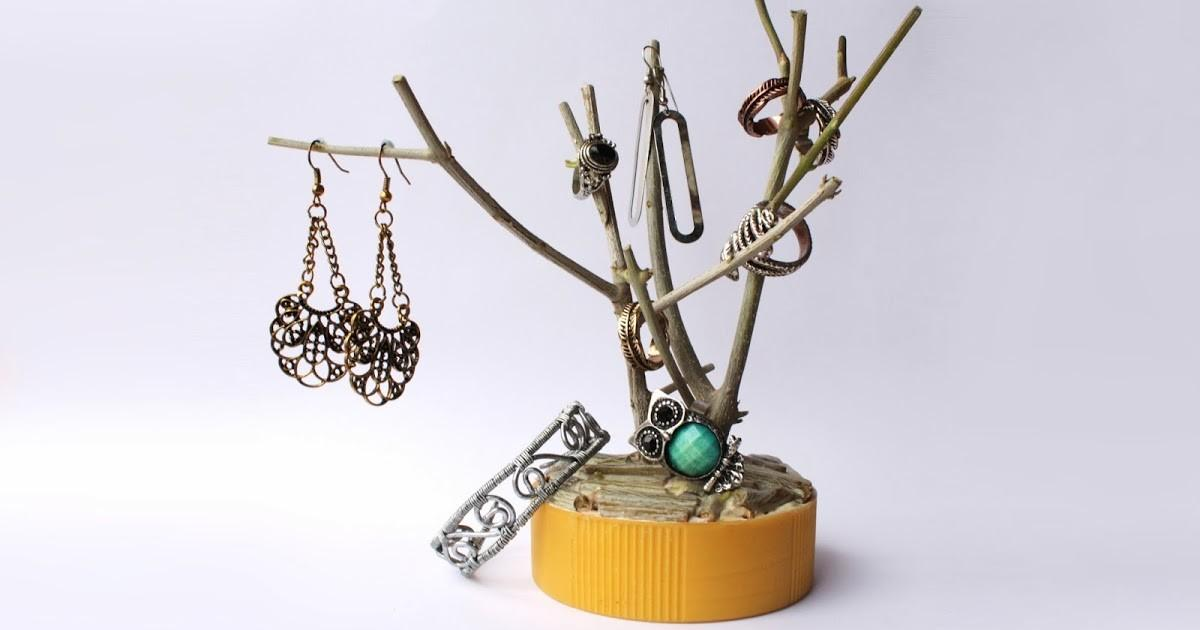 Diy Branch Jewelry Holder Curly Made