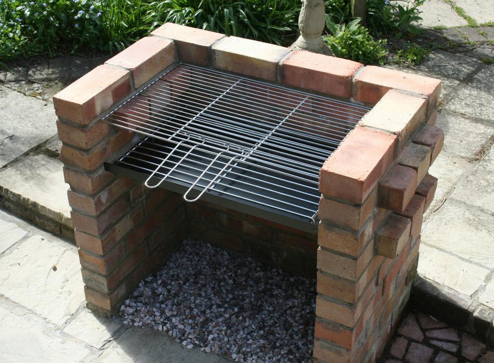 Diy Brick Charcoal Bbq Barbecue 7mm Thick Grate