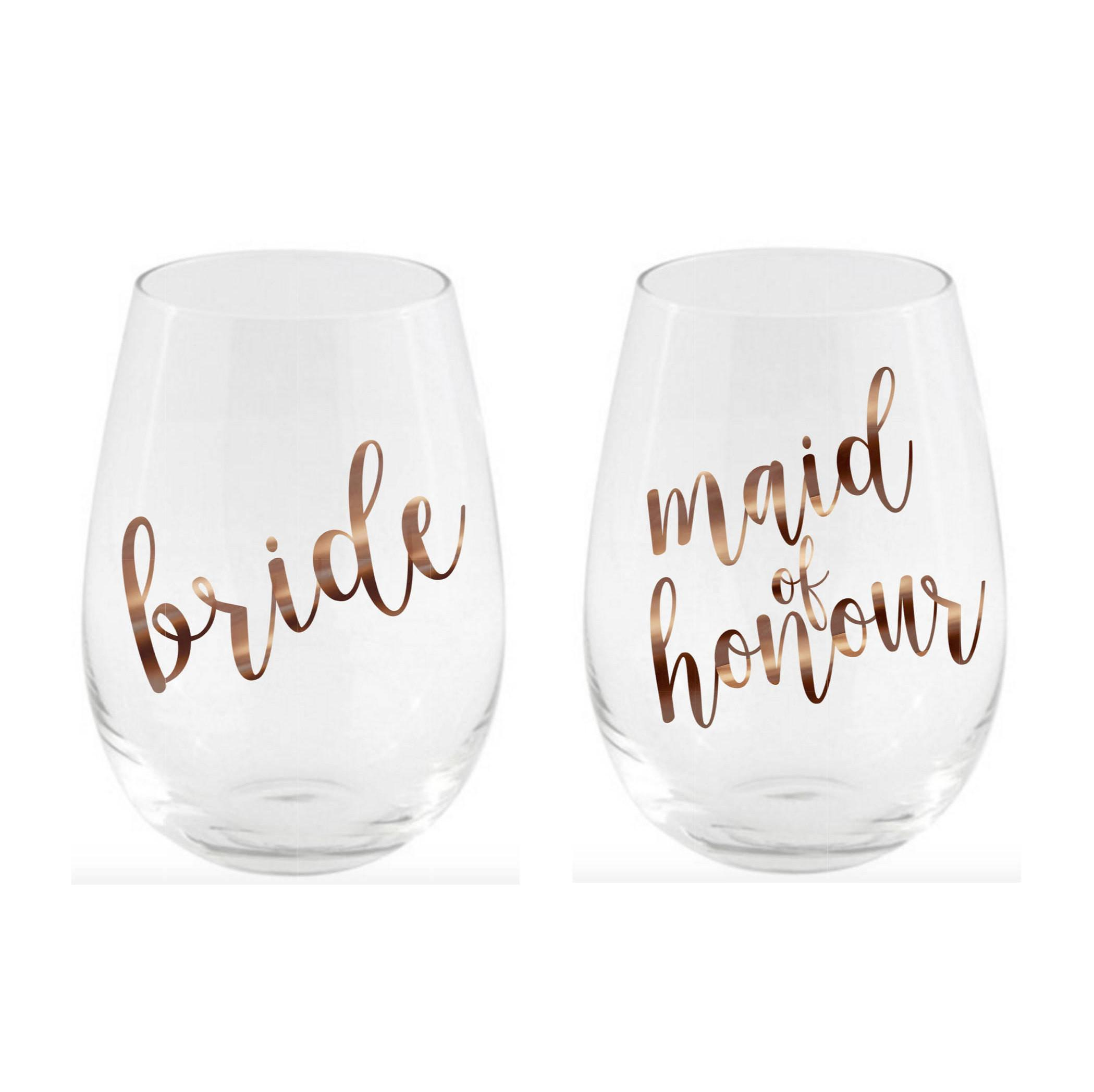 Diy Bridal Party Glass Decal Vinyl Labels Wedding Decals