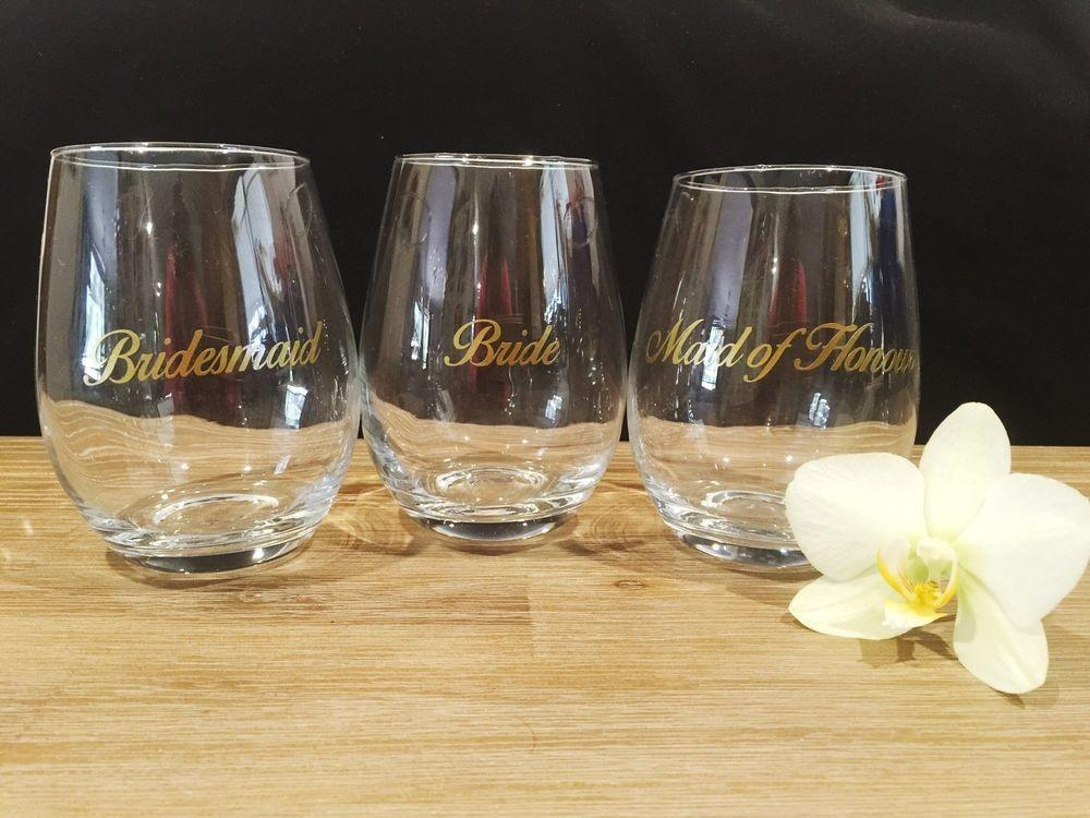 Diy Bridal Party Wine Glass Sticker Decal