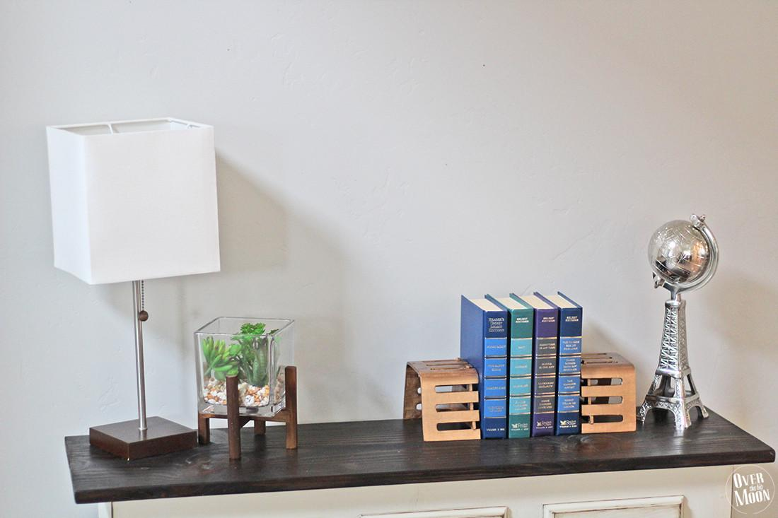 Diy Bronze Bookends Over Big Moon