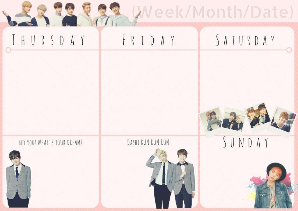 Diy Bts Themed Planner Army Amino