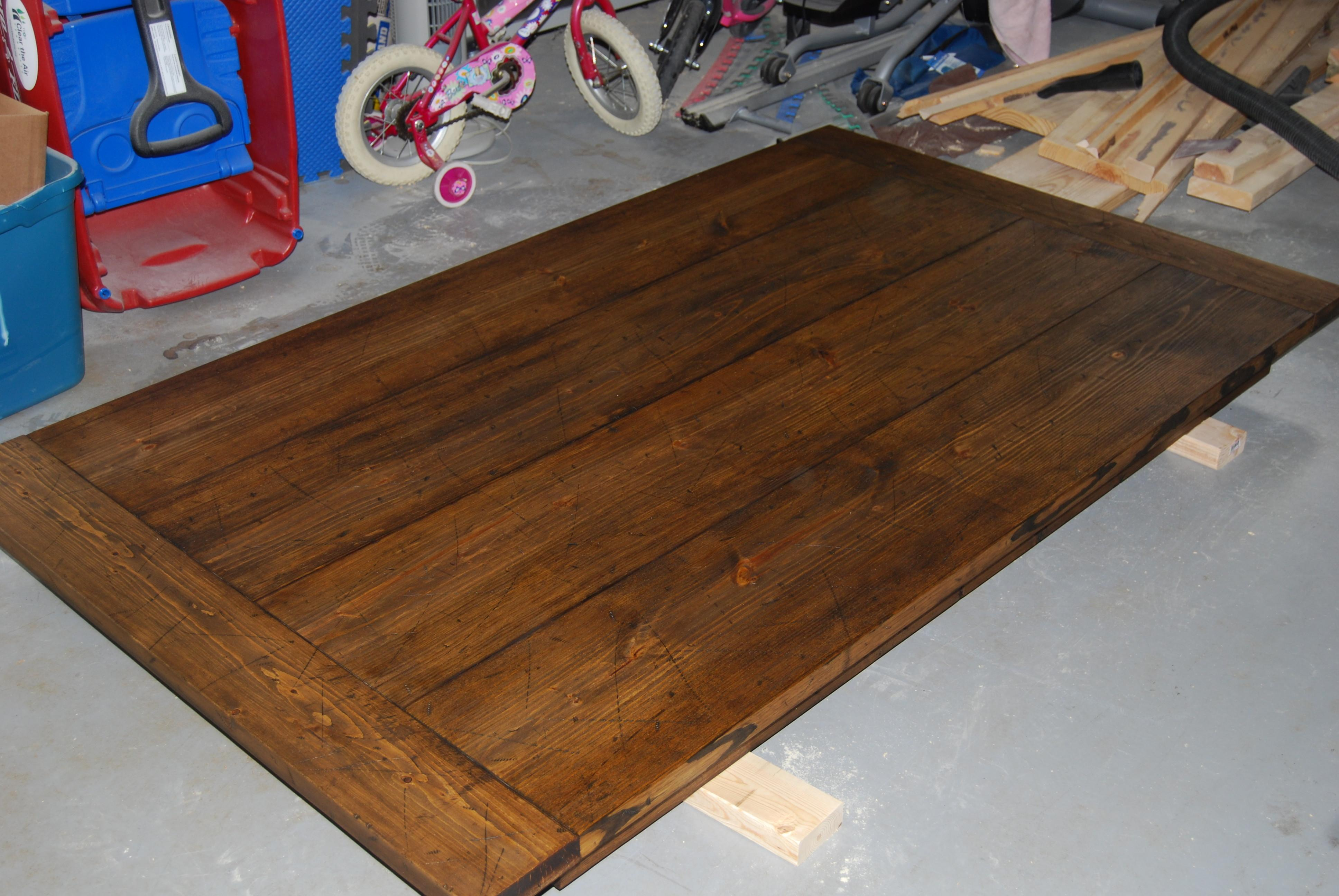 Diy Build Brown Polished Rectangle Recycled Teak Wood Top