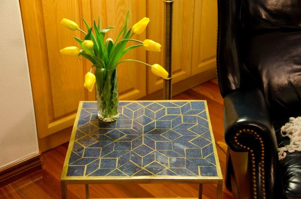 Diy Build Mosaic Epoxy Tabletop Under