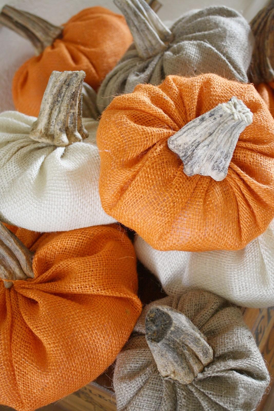 Diy Burlap Pumpkins Real Stems