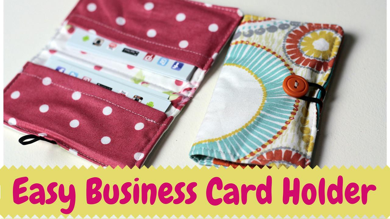 Diy Business Card Holder Video Tutorial Crafty Gemini