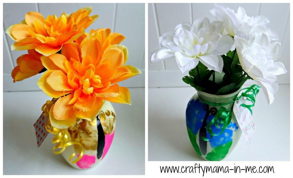 Diy Butterfly Painted Vases Mother Day Crafty Mama