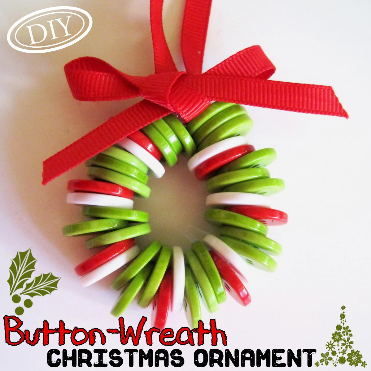 Diy Button Wreath Christmas Ornament Top Easy Craft