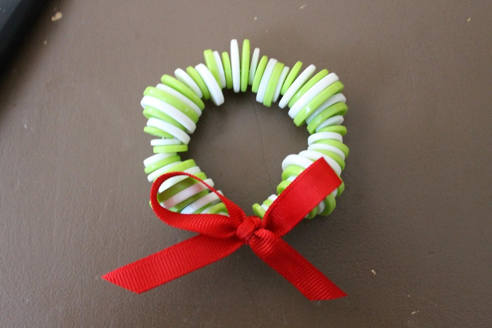 Diy Button Wreath Ornament White Lights Wednesday
