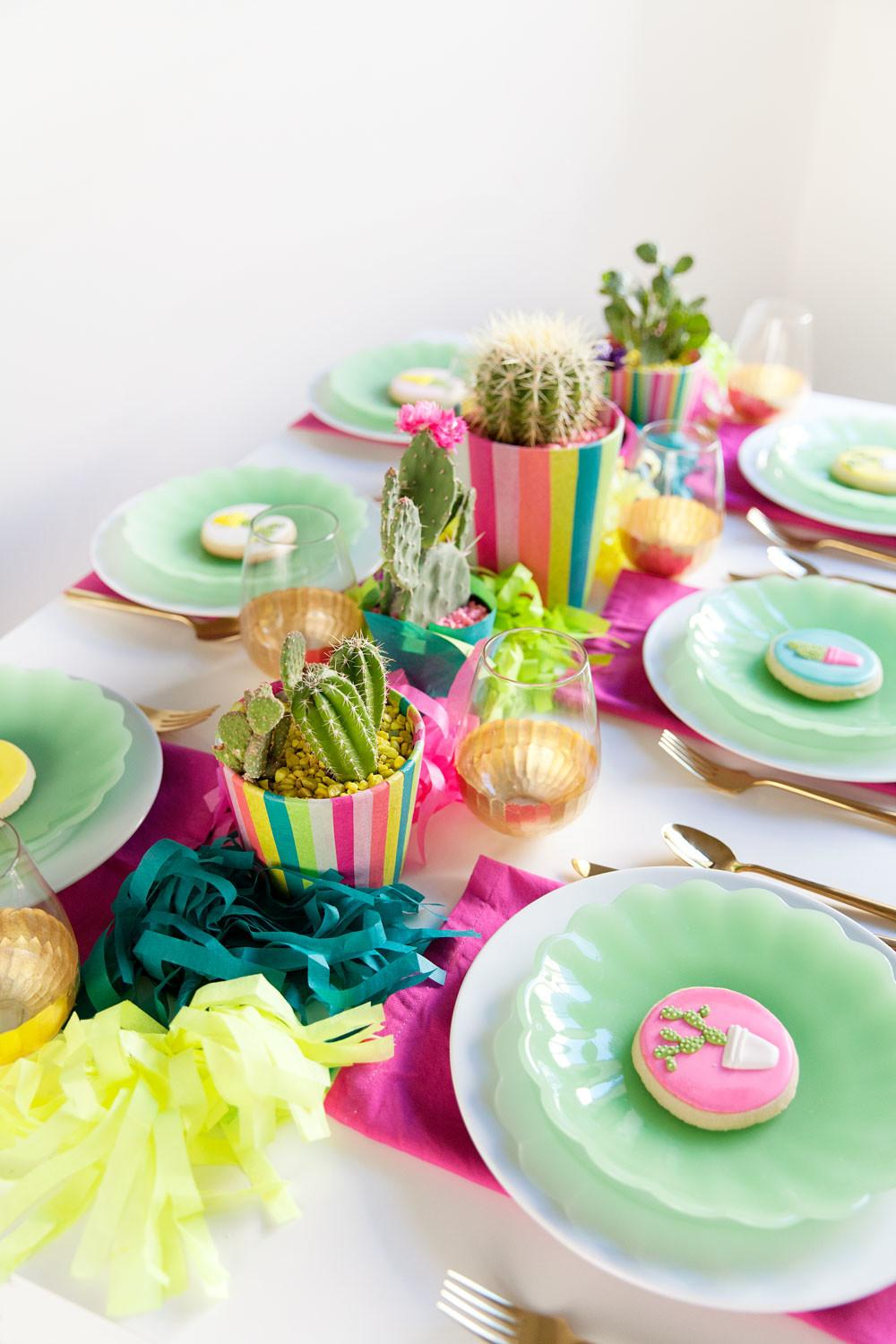 Diy Cactus Party Tell Love