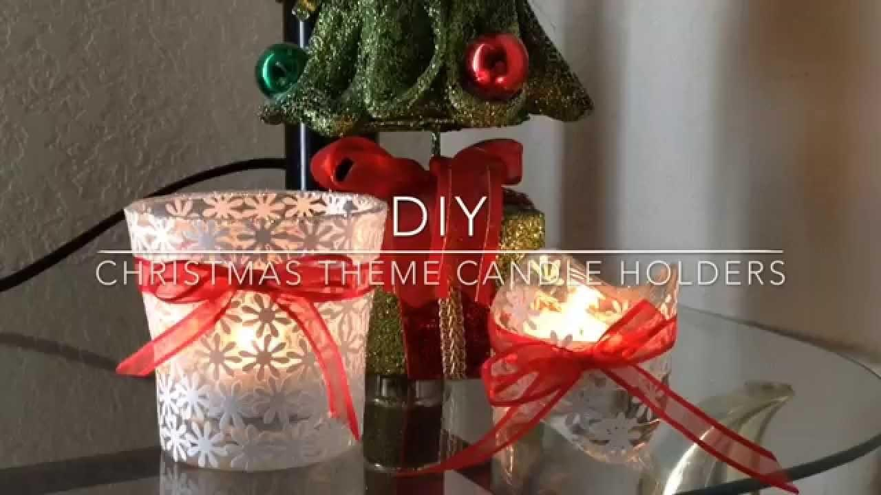 Diy Candle Holder Christmas Theme Gift