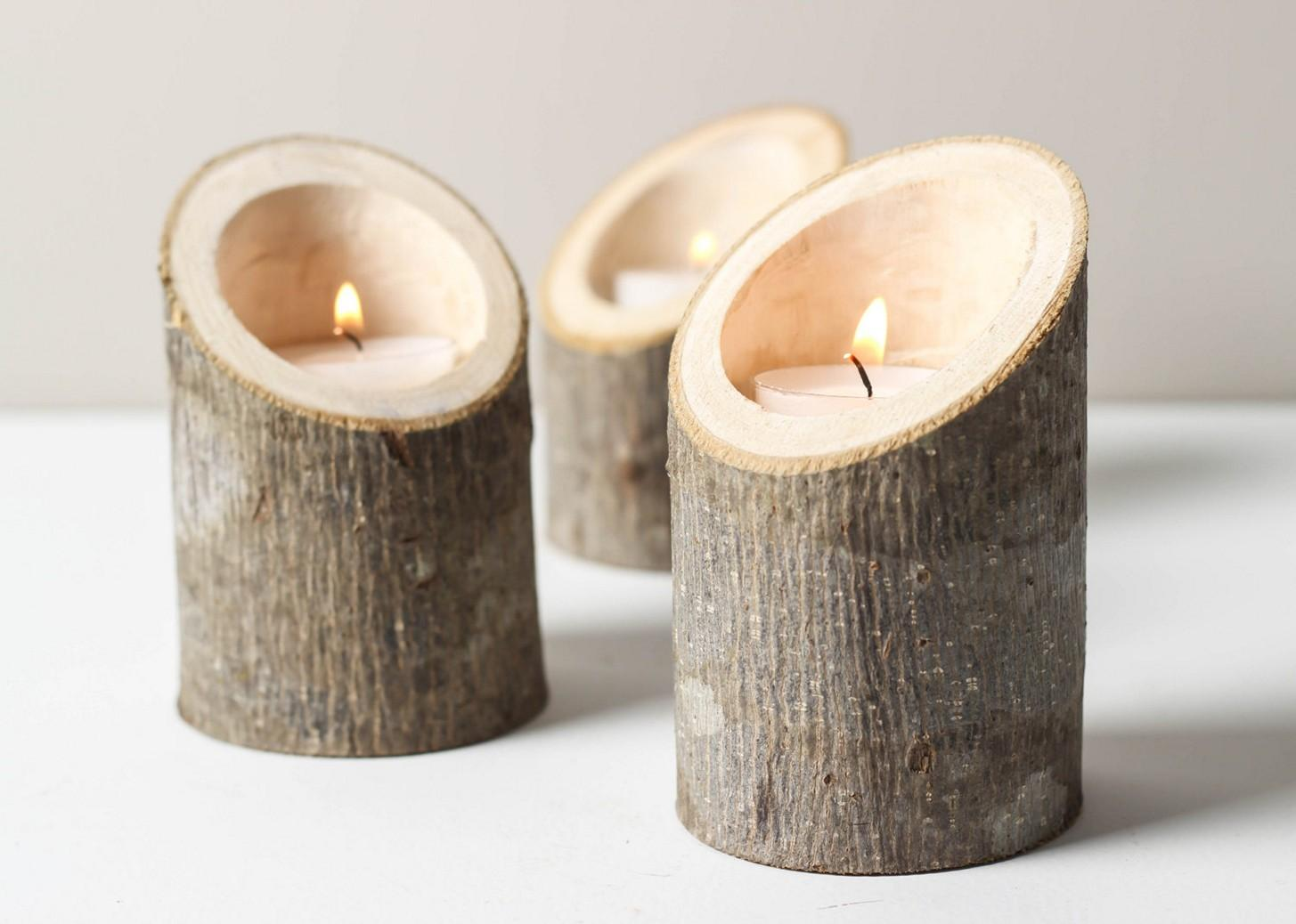 Diy Candle Holders Wood