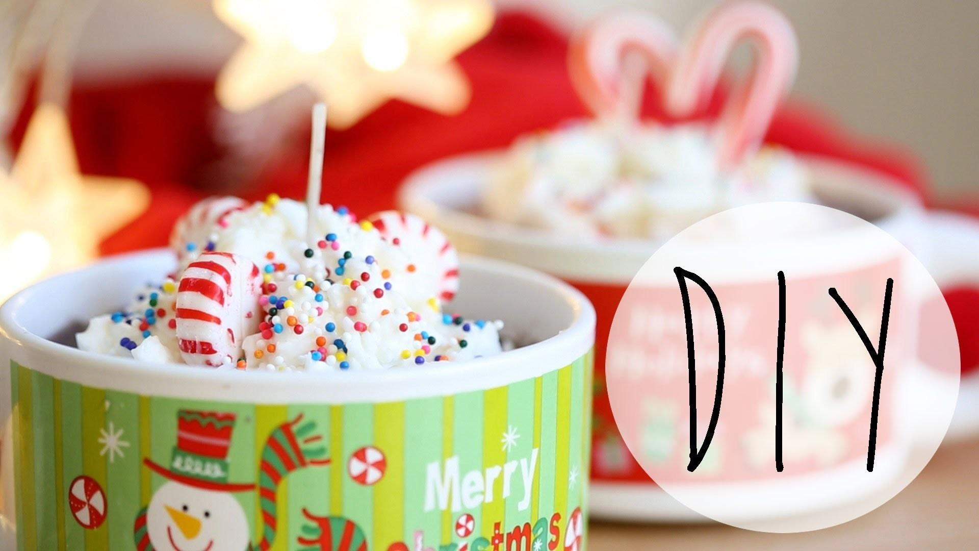 Diy Candle Making Hot Cocoa Candles Holiday Gift Ideas