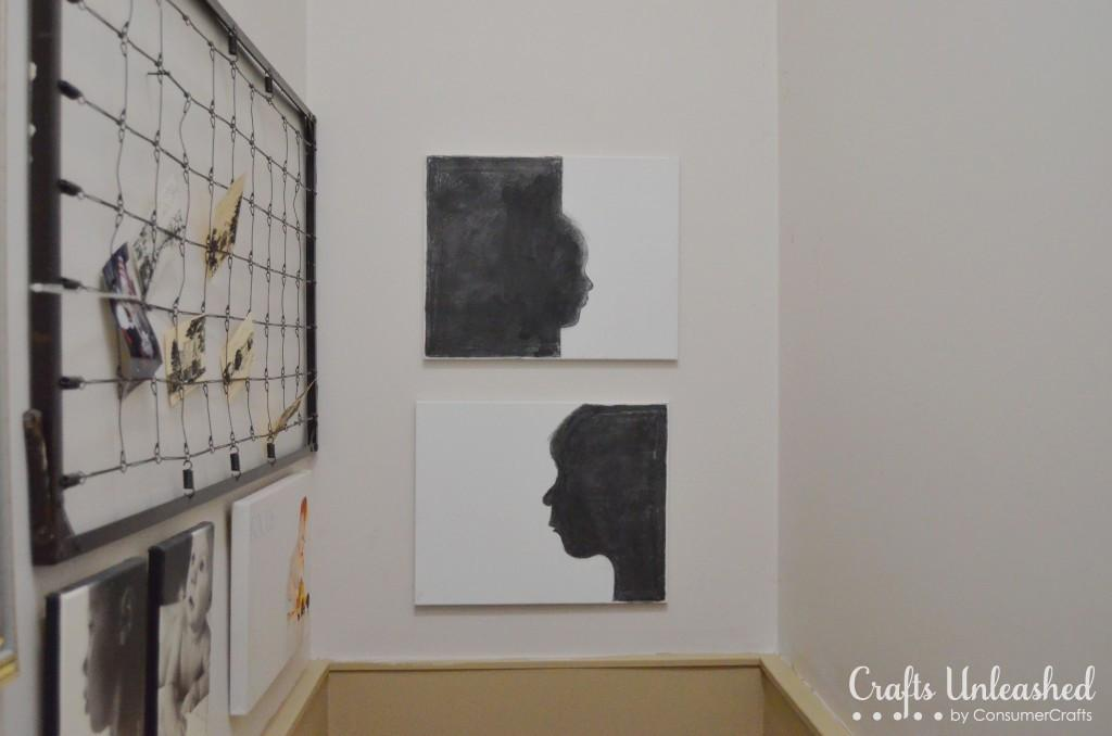 Diy Canvas Art Charcoal Silhouettes Tutorial