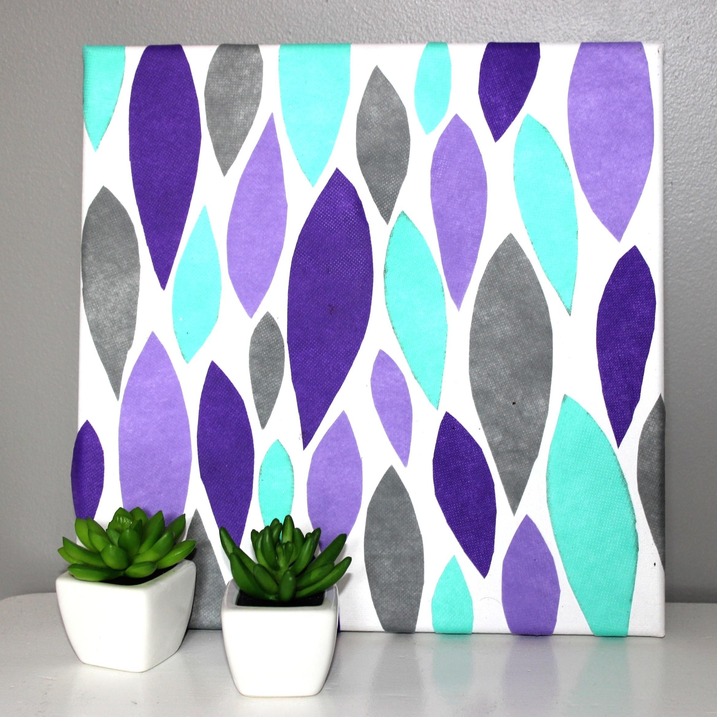 Diy Canvas Art Little Craft Your Day