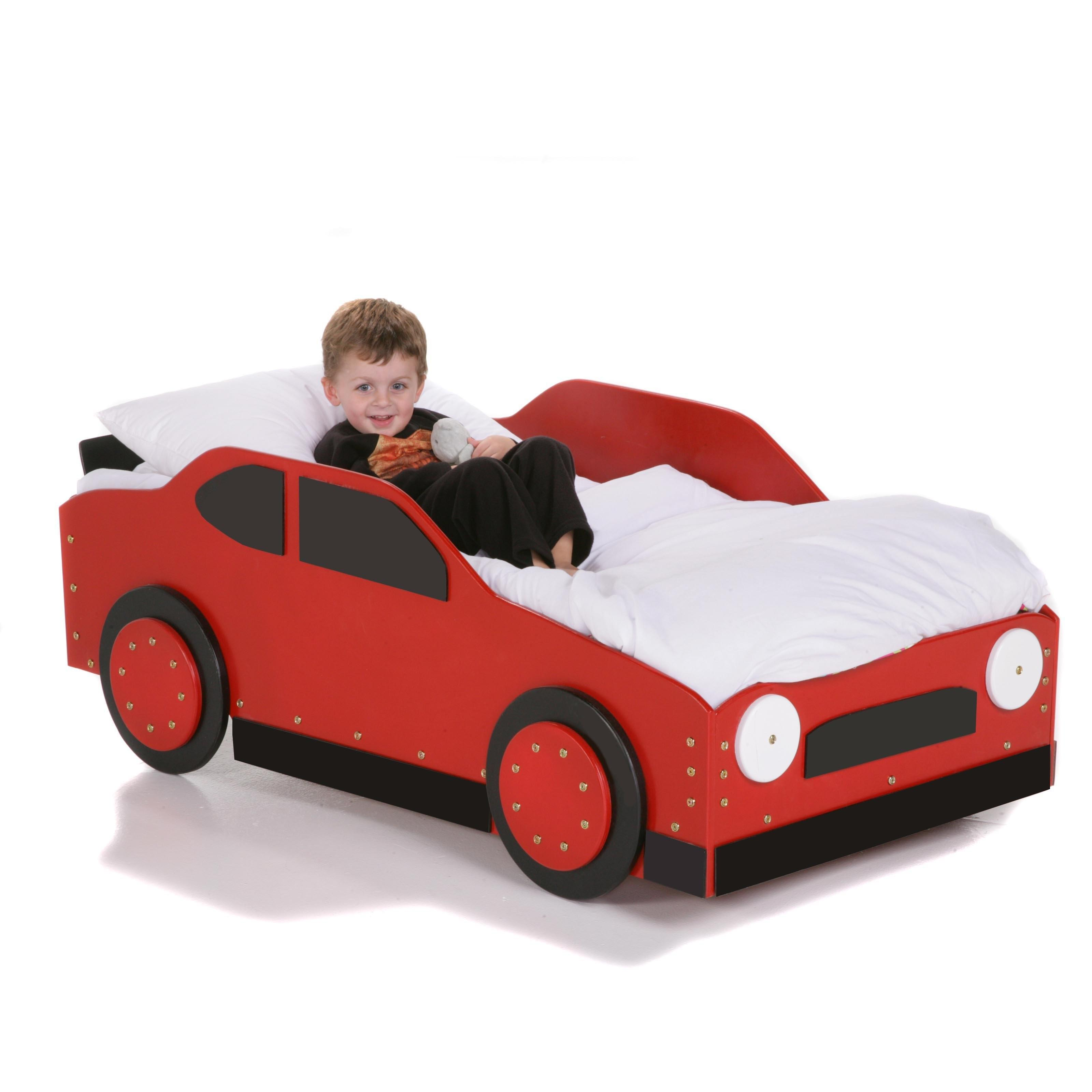 Diy Car Shaped Beds Boys Toddlers Painted Red