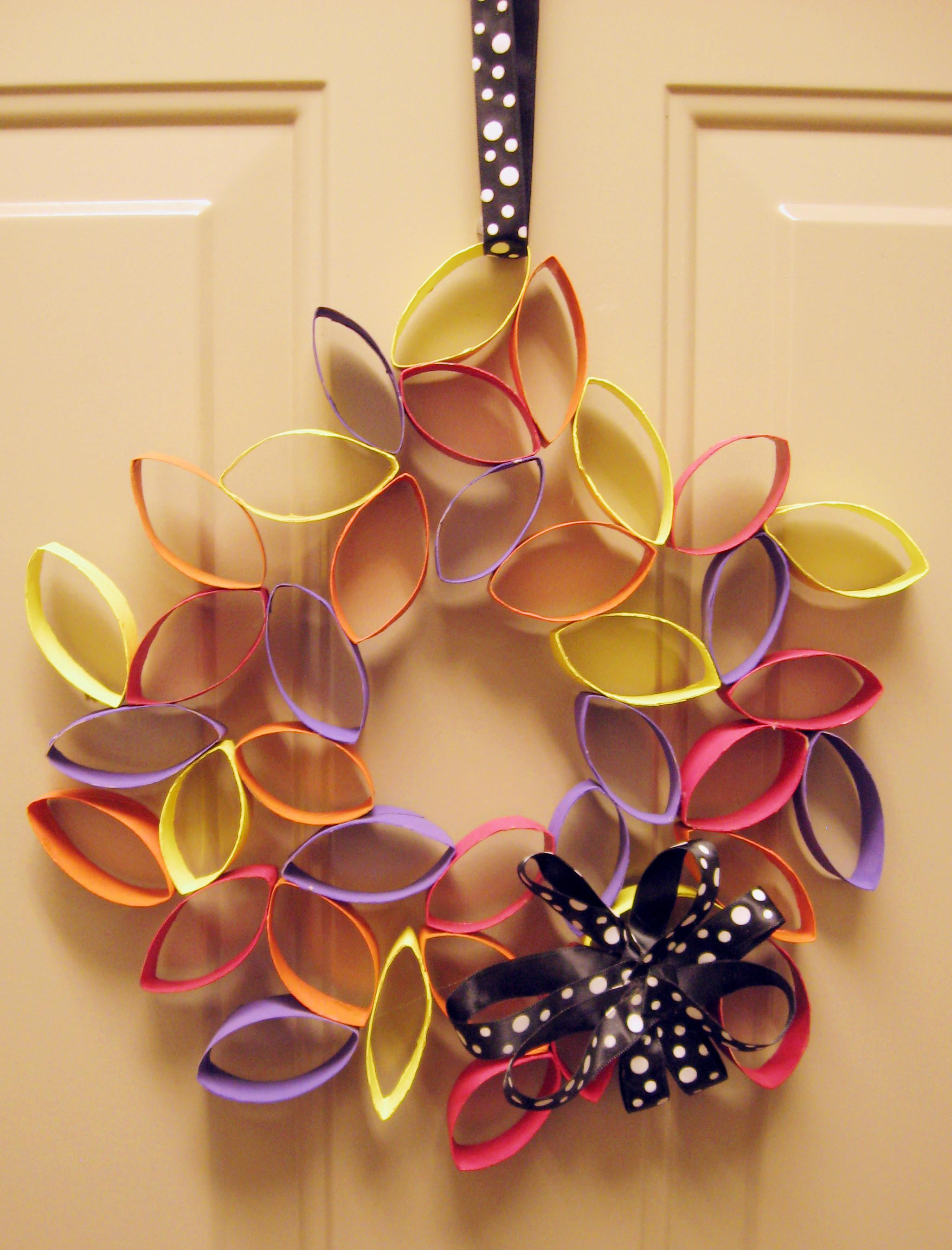Diy Cardboard Flower Wreath Make Something Mondays