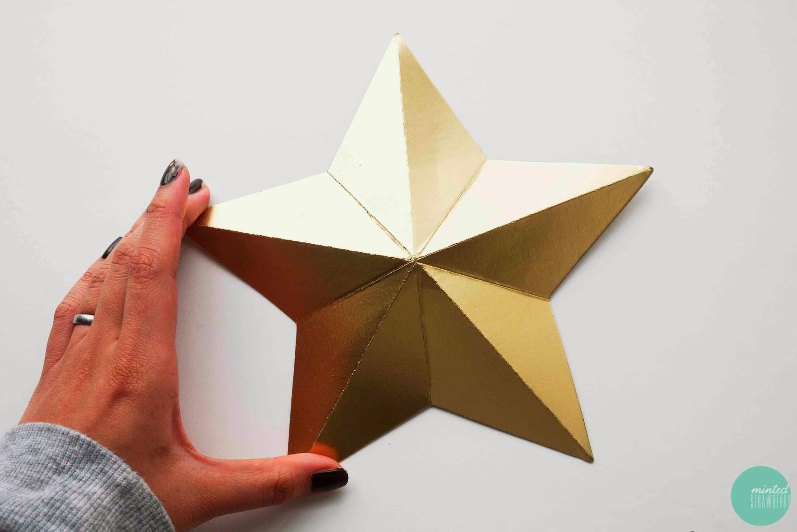 Diy Cardboard Star Ornaments Minted Strawberry
