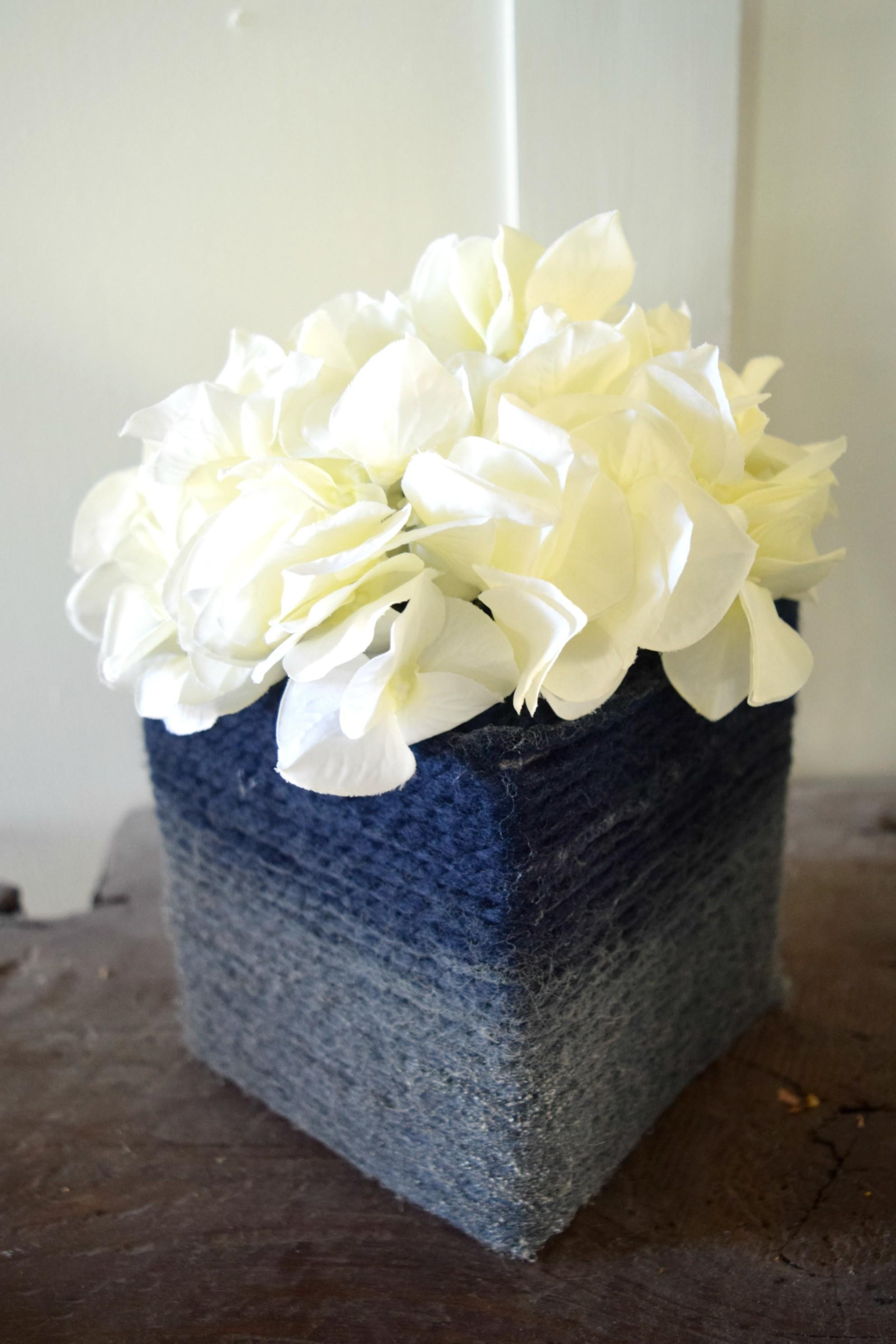 Diy Cardboard Tissue Box Turned Into Vase Easy Craft Idea