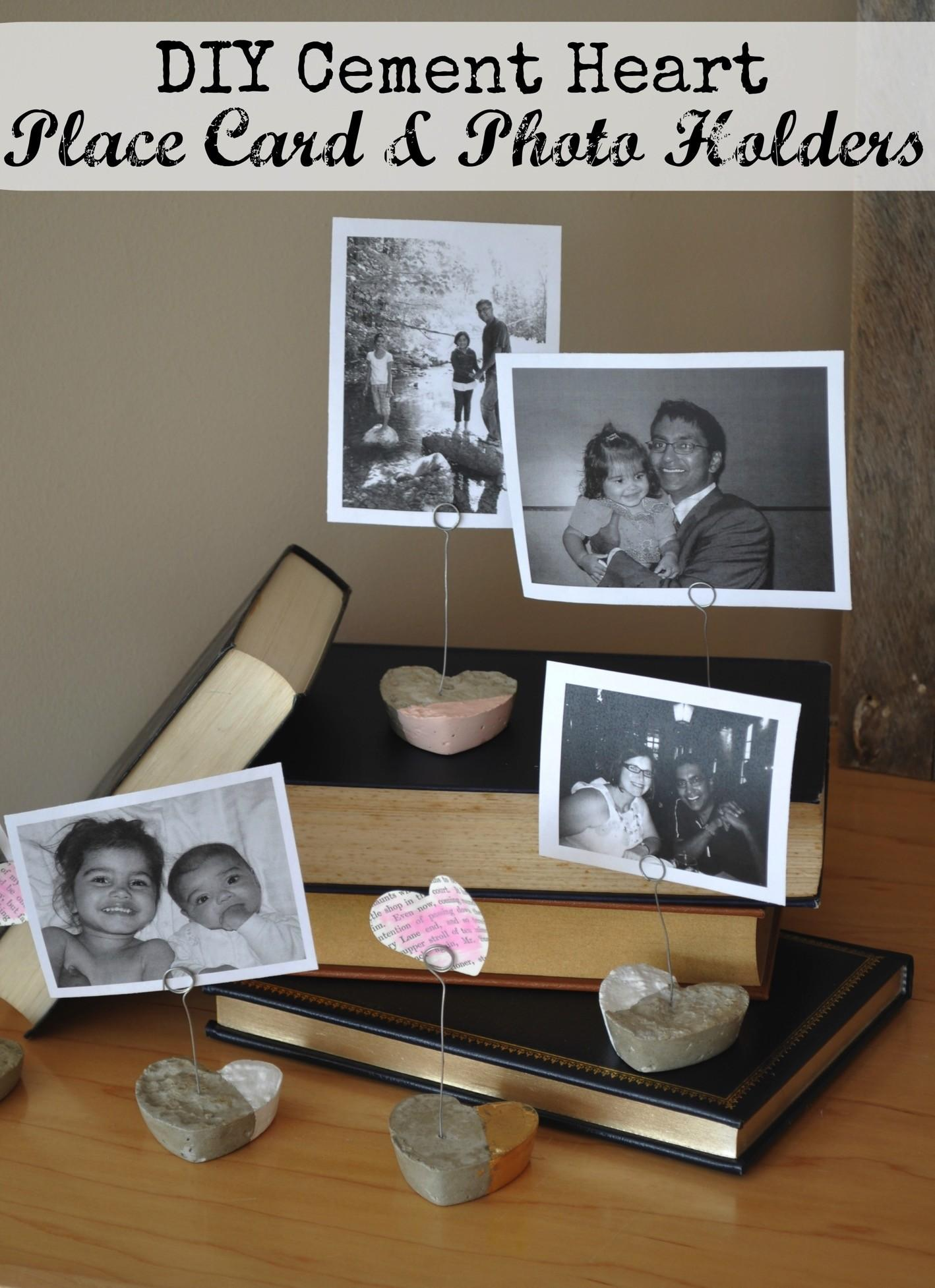 Diy Cement Heart Place Card Holders Life