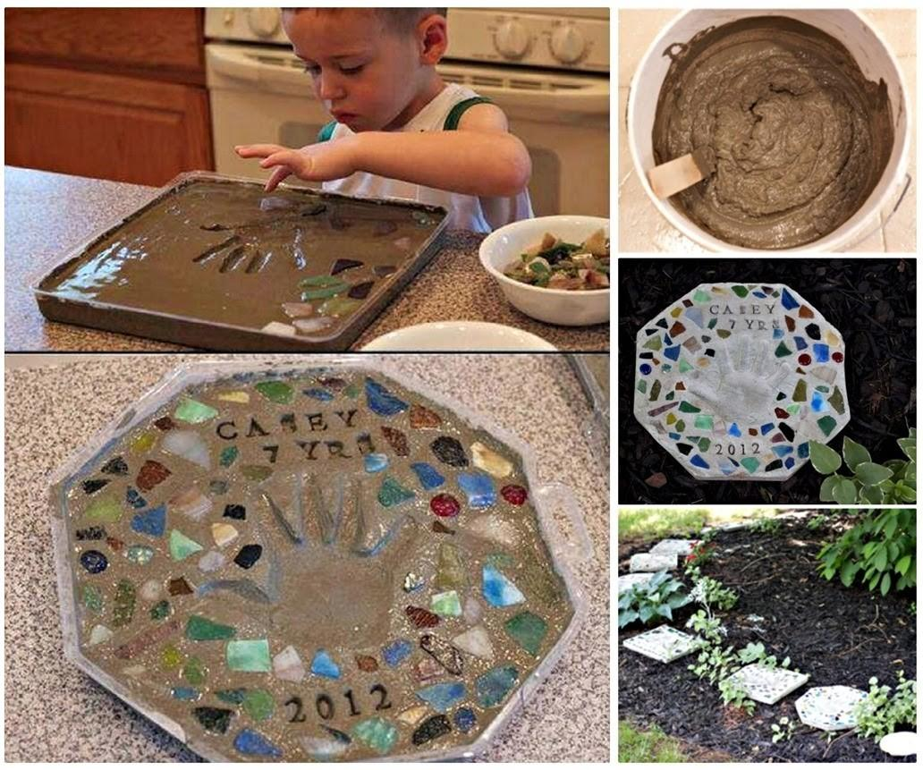 Diy Cement Stepping Stone Craft Projects