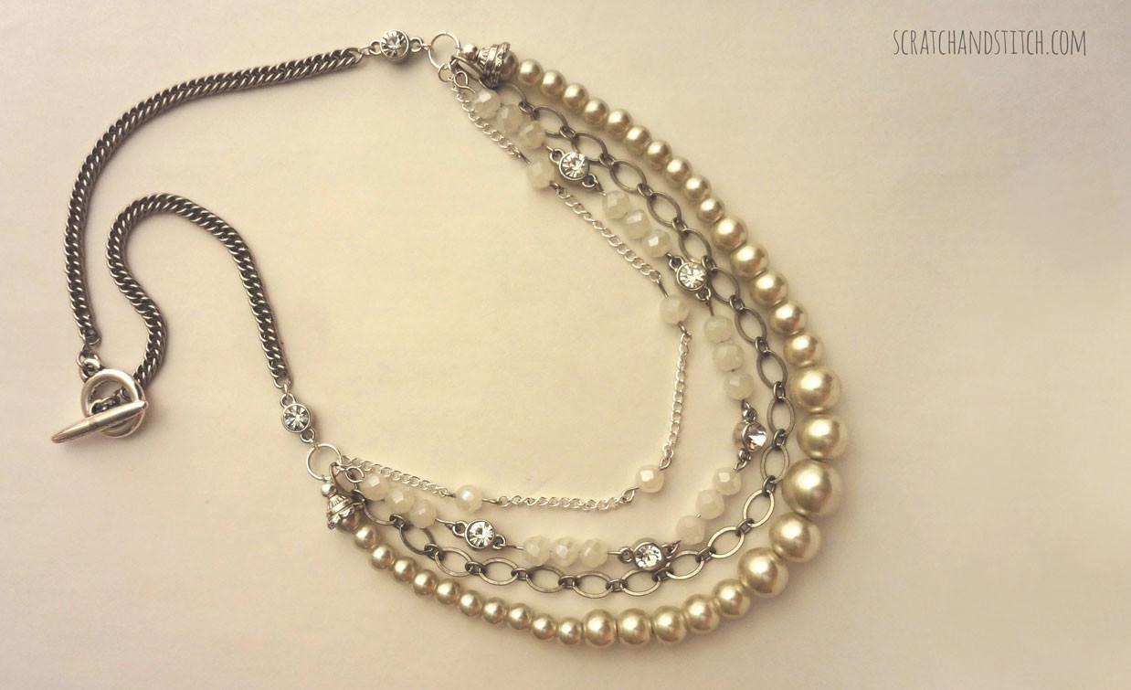 Diy Chain Pearl Necklace