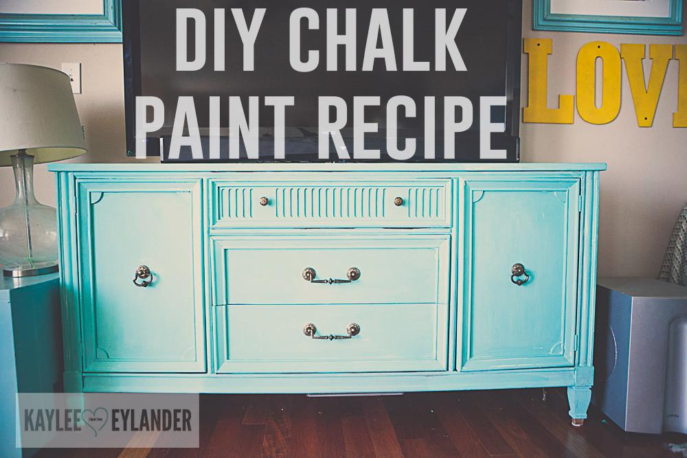 Diy Chalk Paint Project Thrift Store Furniture Makeover