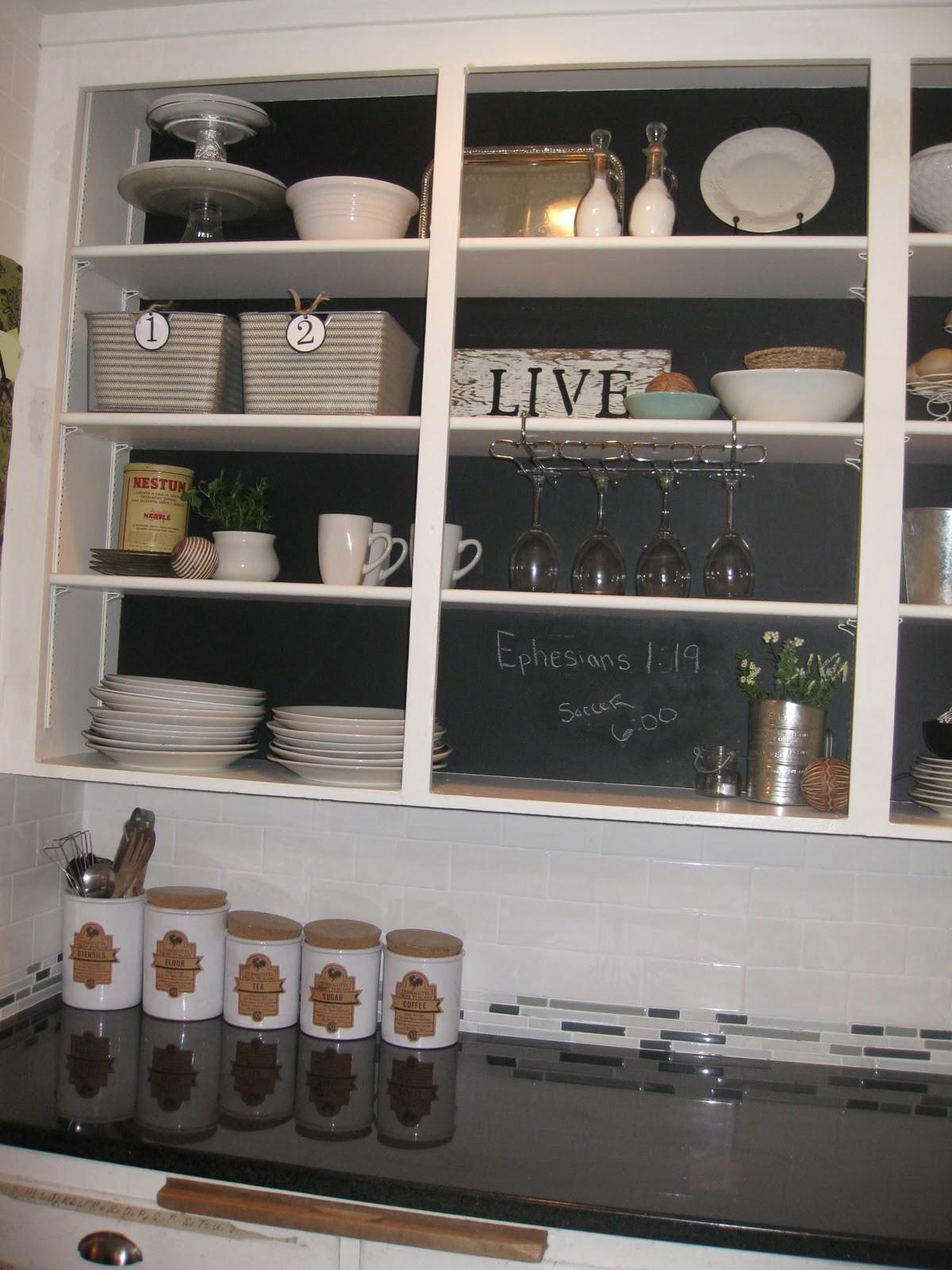 Diy Chalkboard Cabinets Creatively Living Outside Box