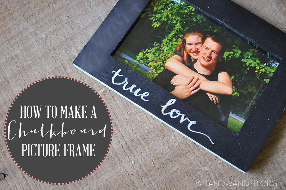 Diy Chalkboard Frame Our Handcrafted Life