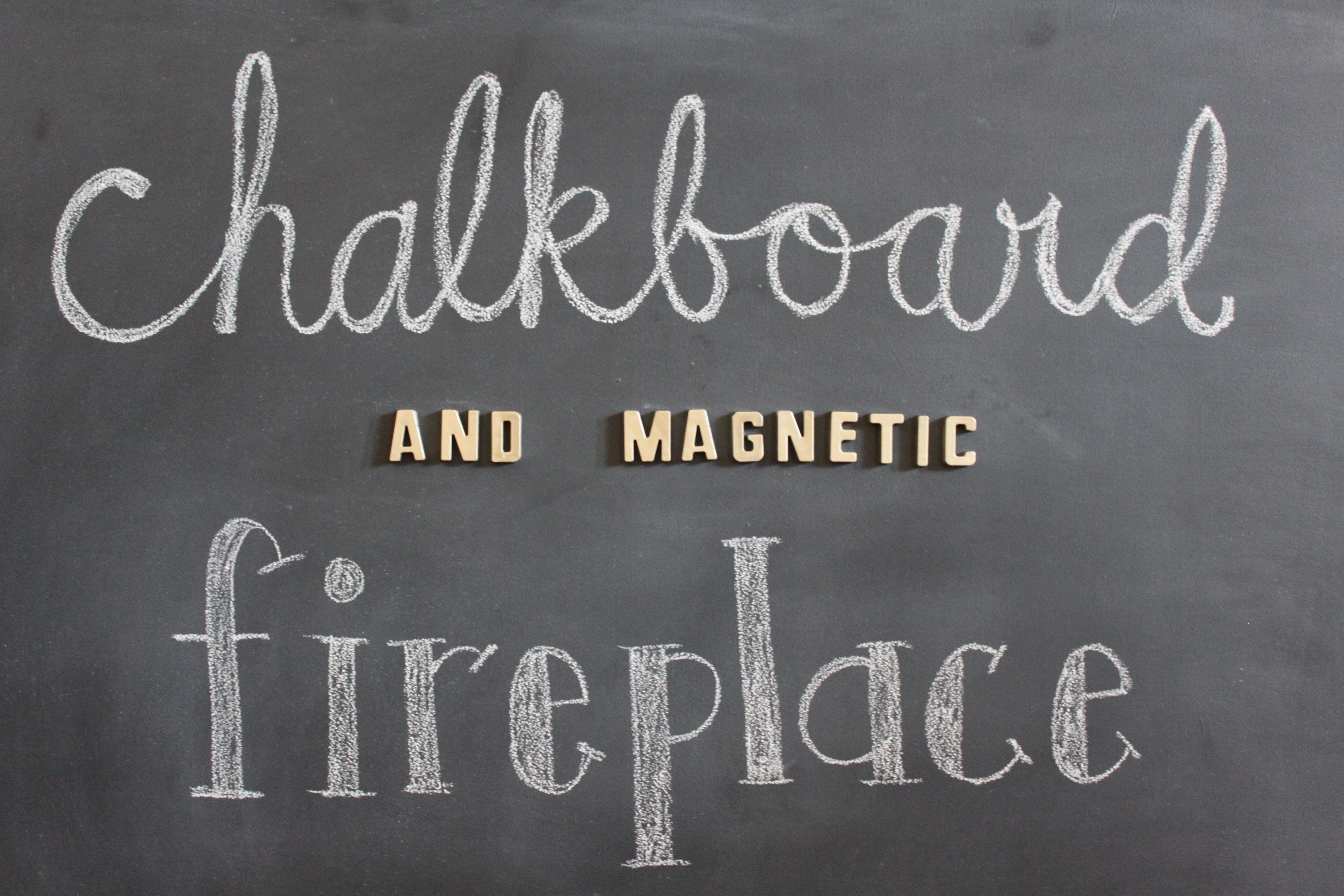 Diy Chalkboard Magentic Fireplace Cover Sassy Wife