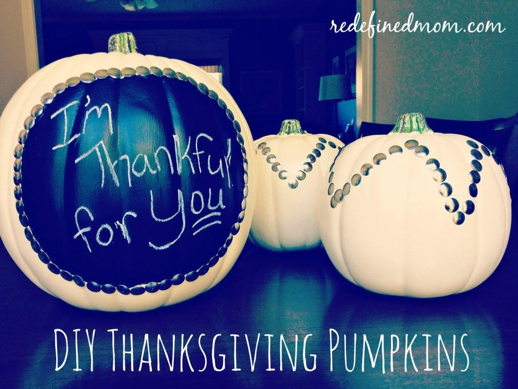 Diy Chalkboard Paint Pumpkins Easy Thanksgiving Decor