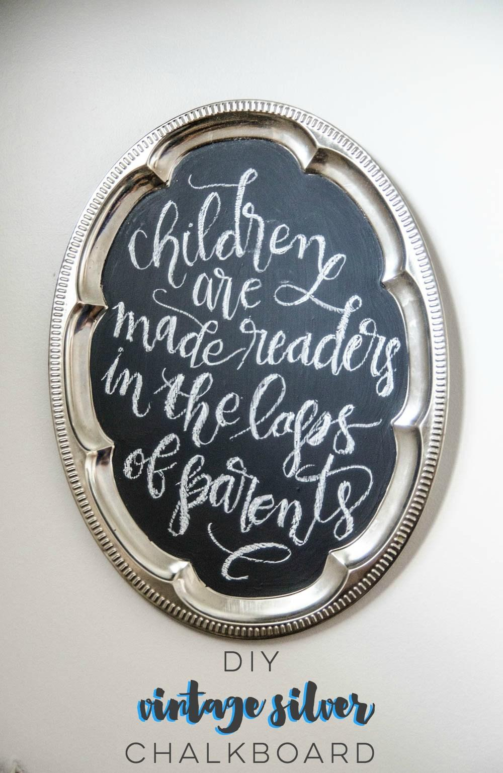 Diy Chalkboard Using Vintage Silver Honest Nod
