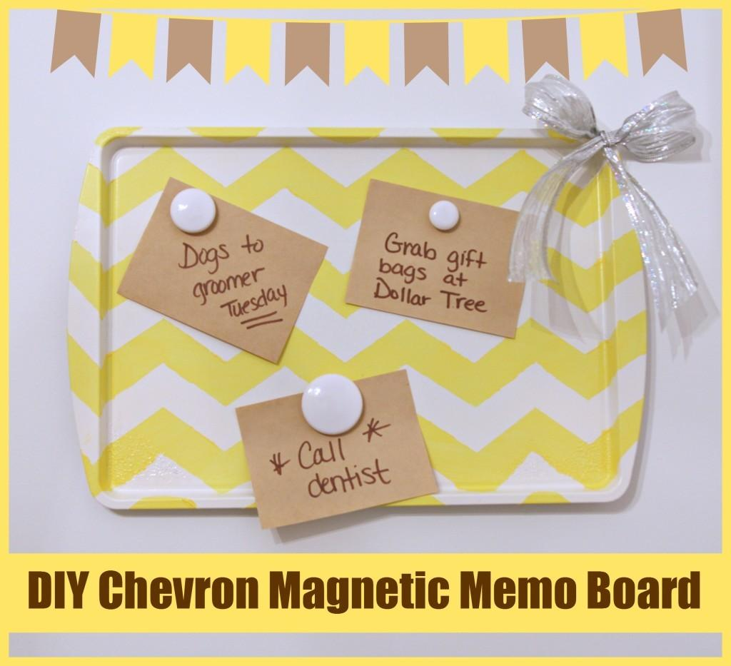 Diy Chevron Magnetic Memo Board Crafting Dollar Tree