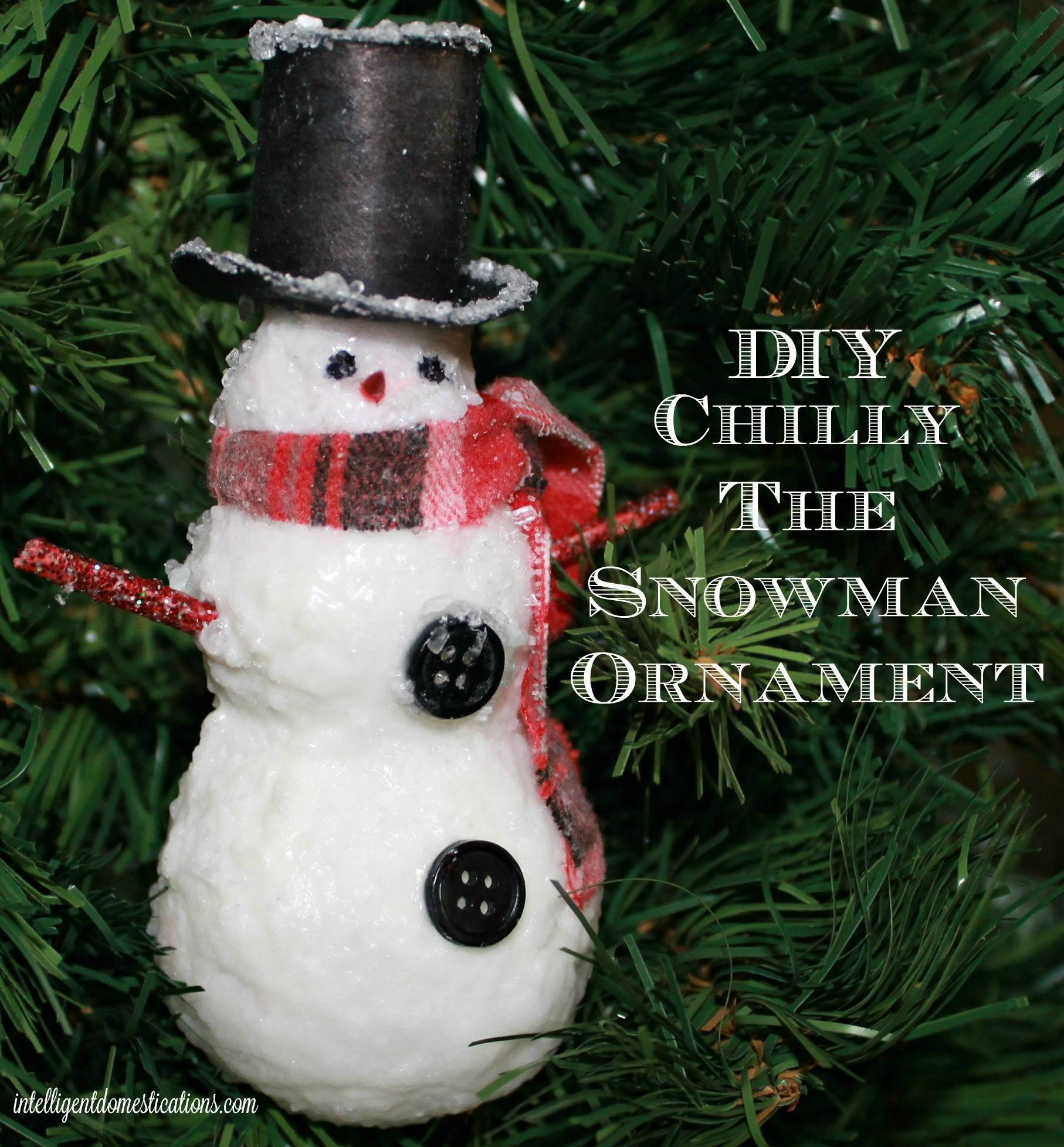 Diy Chilly Snowman Ornament