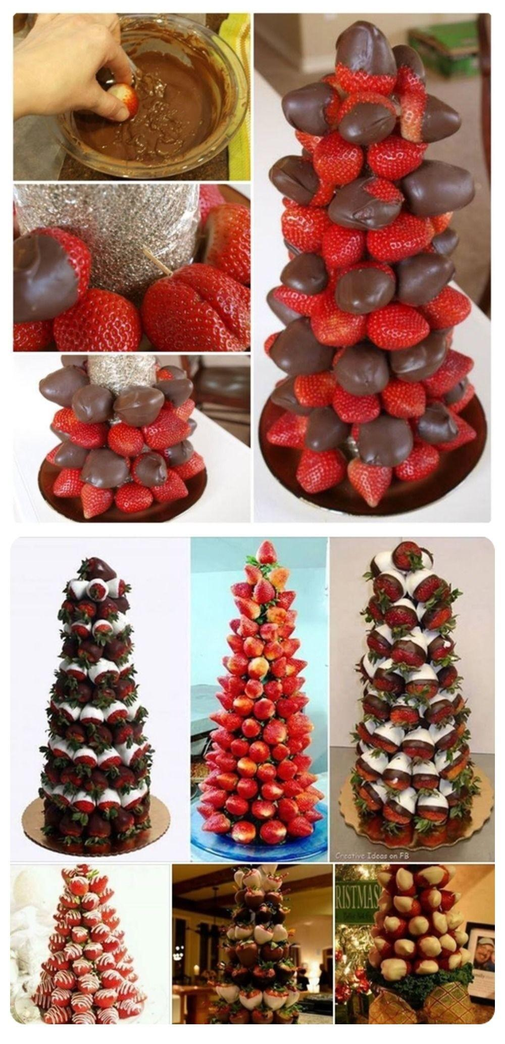 Diy Chocolate Covered Strawberry Trees Photos