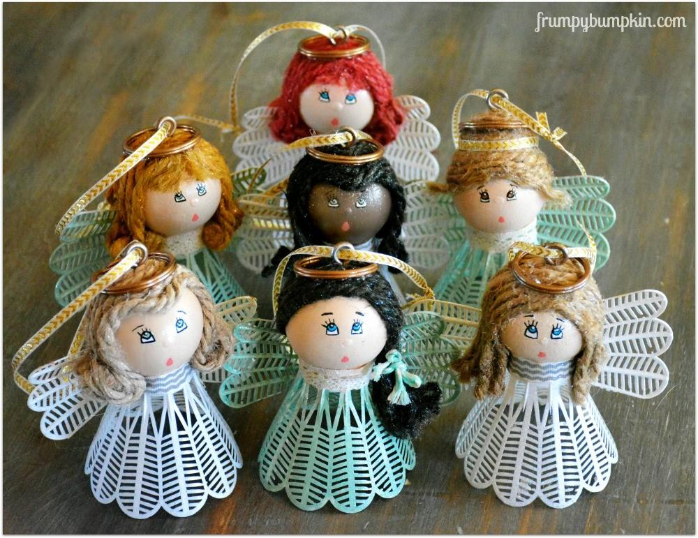 Diy Christmas Angel Ornaments Decorations Thought