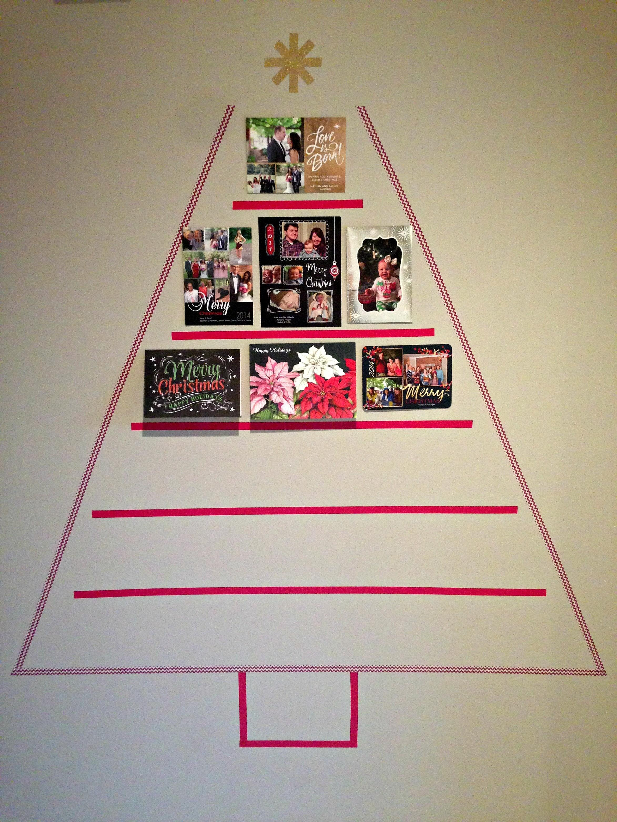 Diy Christmas Card Display Our 2014 Cardstore