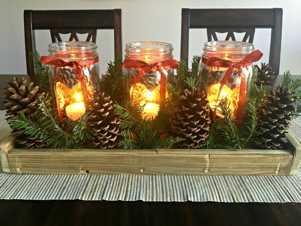 Diy Christmas Centerpiece Rustic Charm Lively Mind