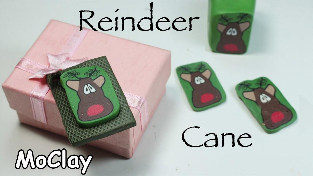 Diy Christmas Crafts Reindeer Polymer Clay Cane Tutorial