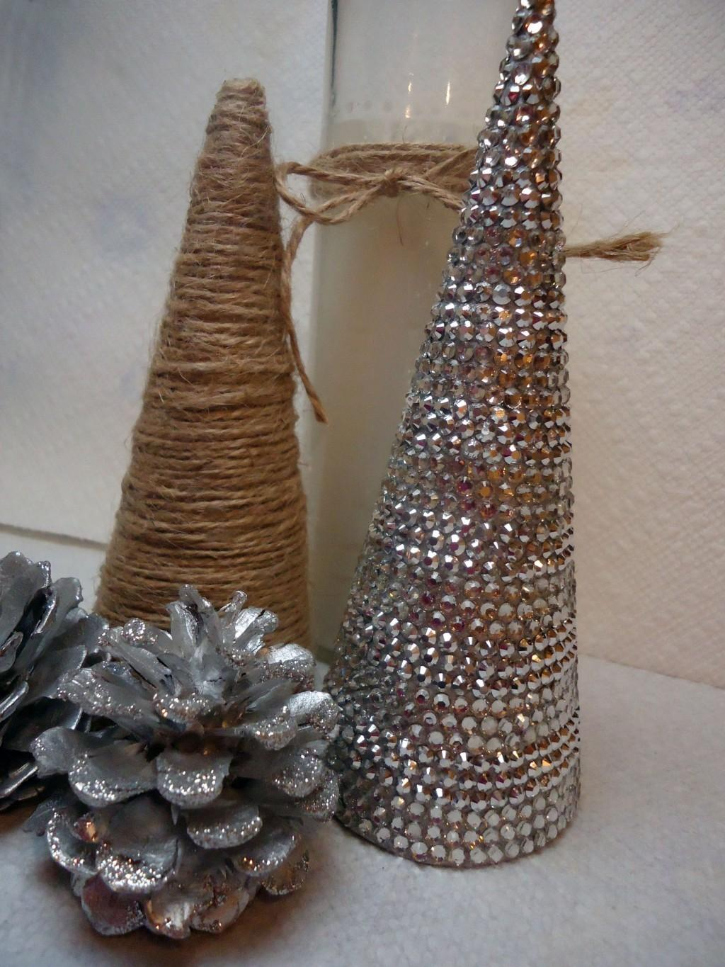 Diy Christmas Decor Create Sparkly Rhinestone Covered