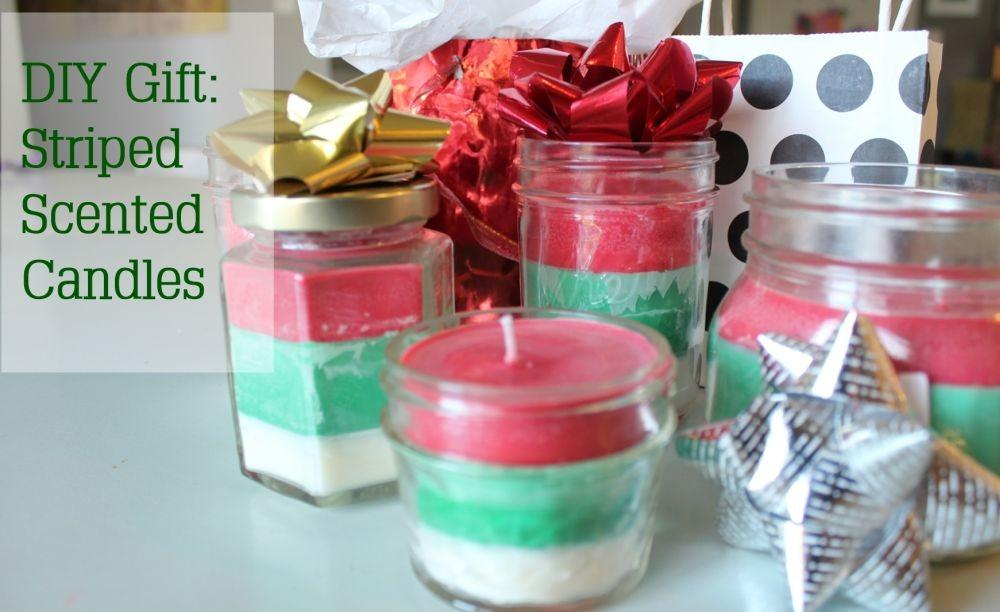 Diy Christmas Gift Idea Striped Multi Scented