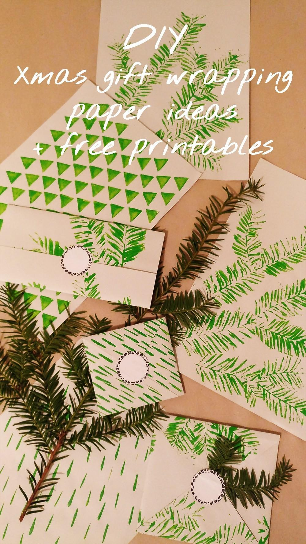 Diy Christmas Gift Wrapping Paper Ideas Printables