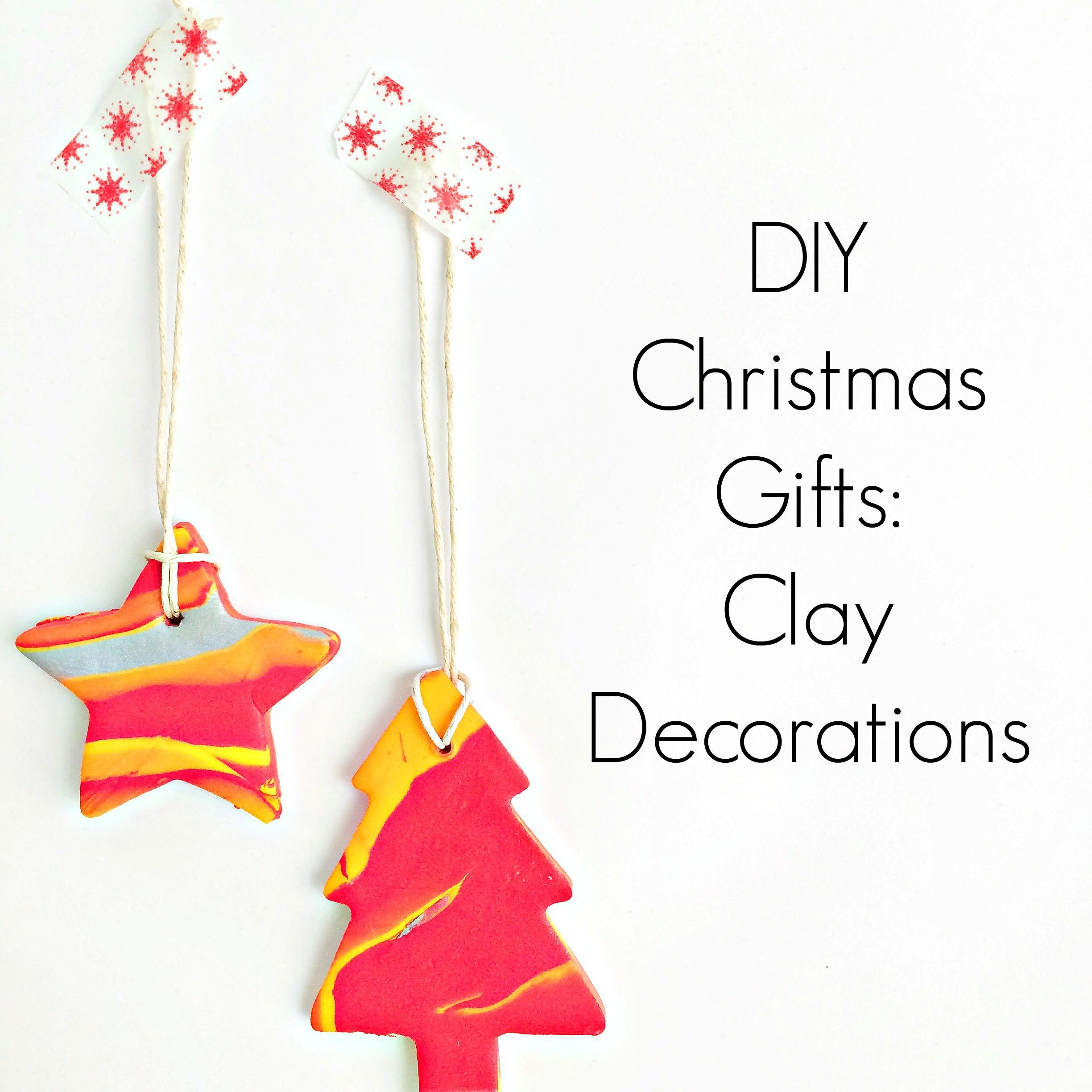 Diy Christmas Gifts Clay Decorations Creative Day