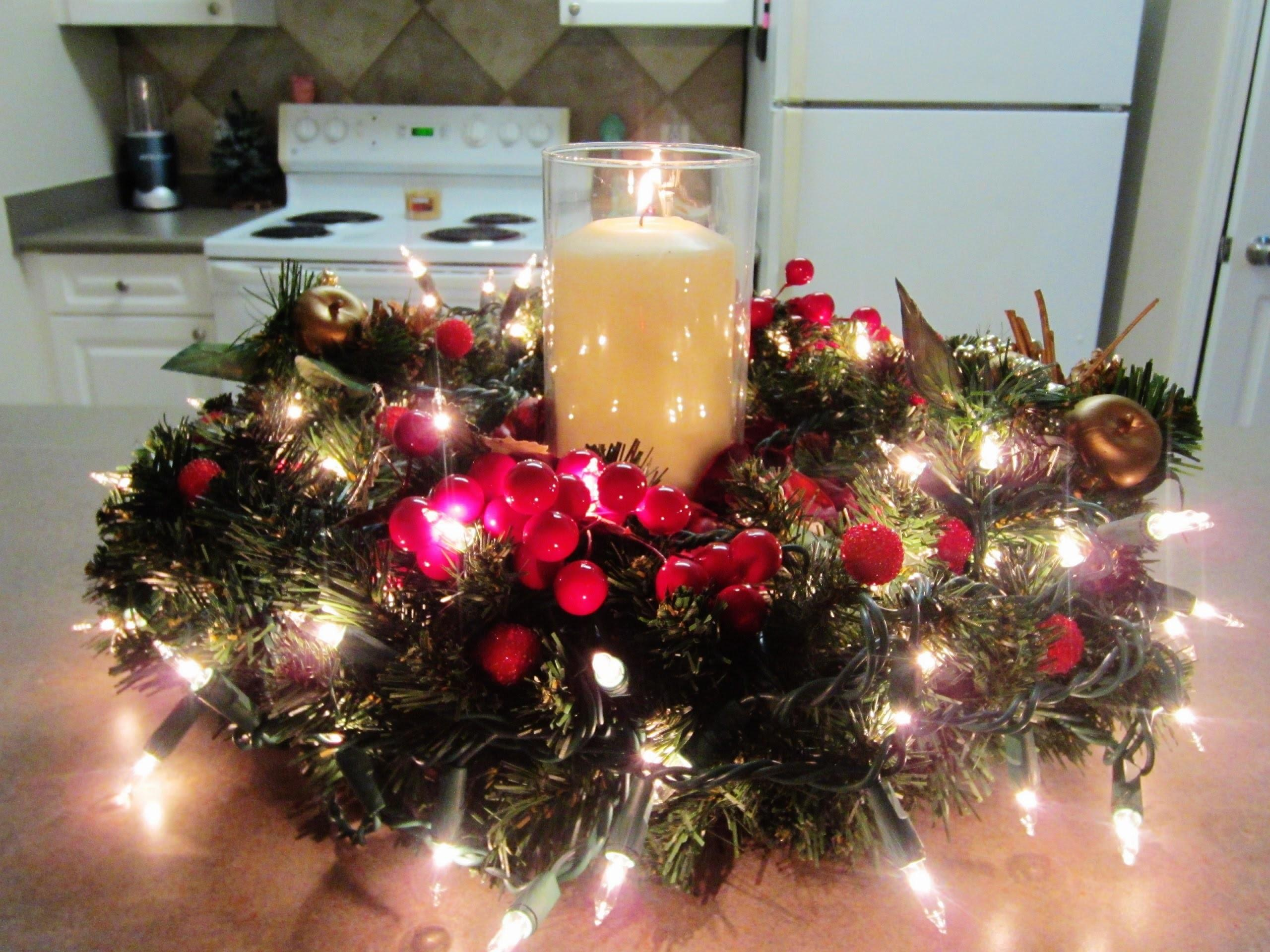 Diy Christmas Holiday Centerpiece