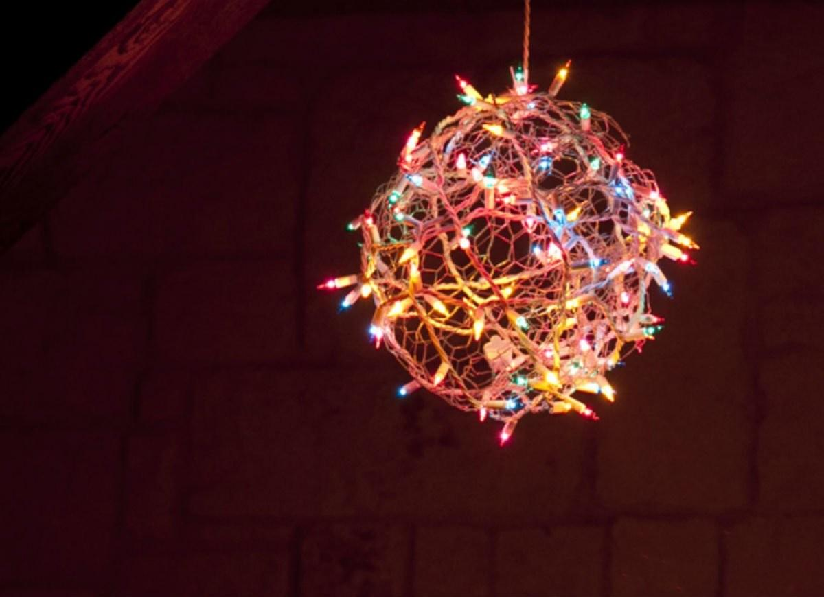 Diy Christmas Light Ball Decorations
