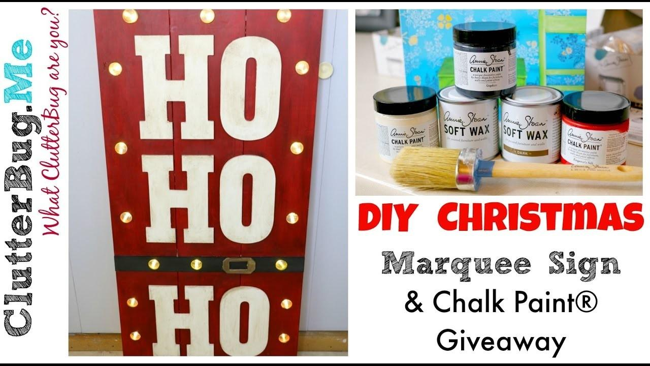 Diy Christmas Marquee Sign Chalk Paint Giveaway Godening