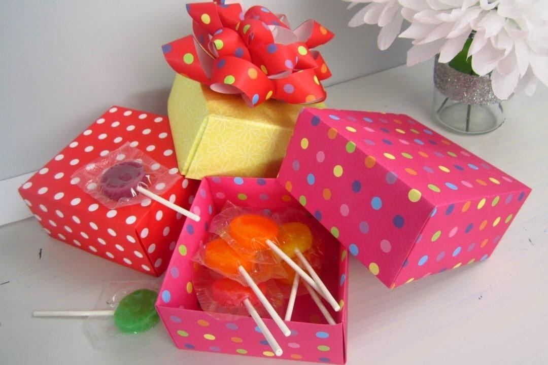 Diy Christmas Origami Paper Gift Boxes