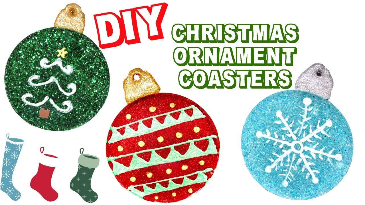 Diy Christmas Ornament Coasters Another Coaster Friday