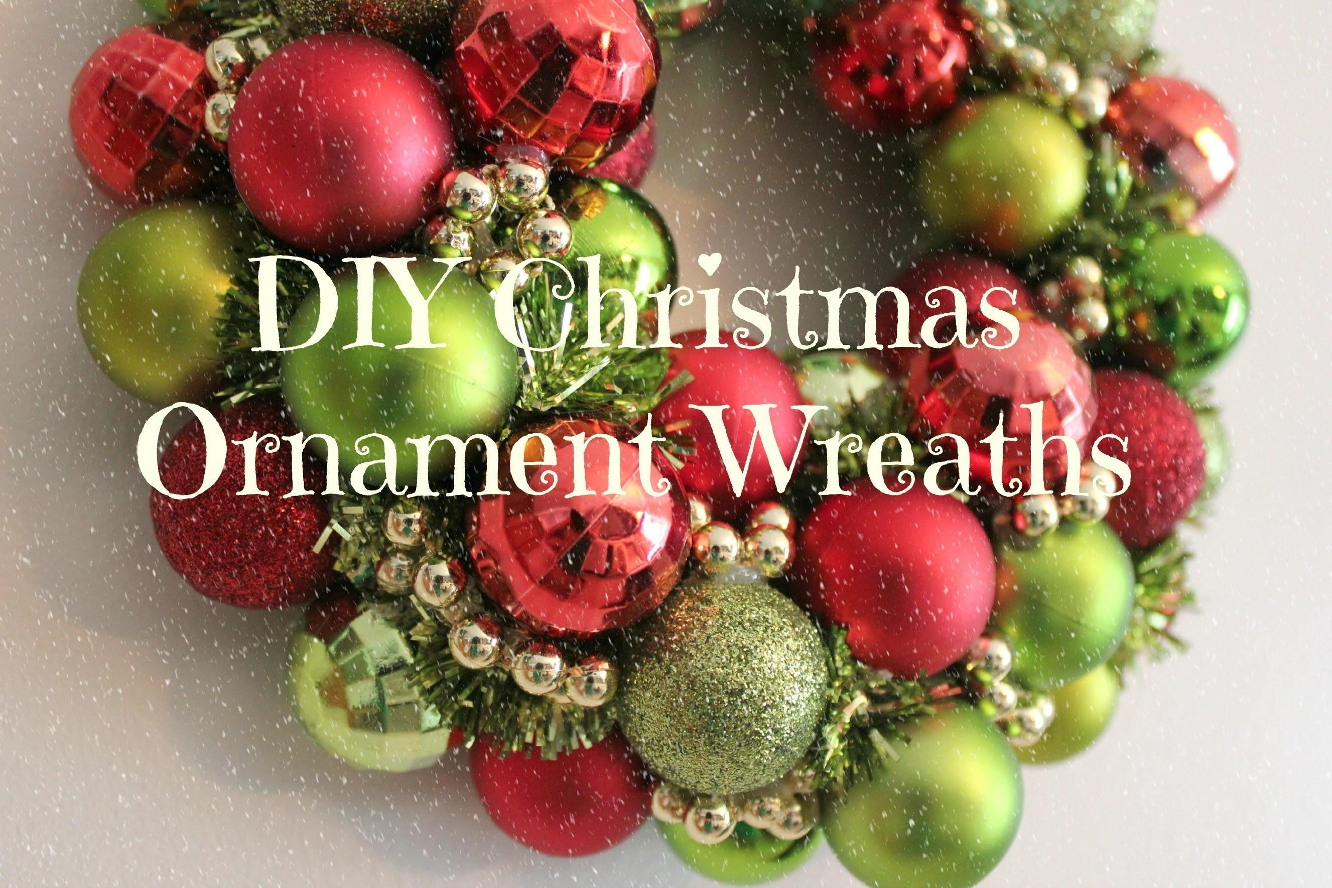 Diy Christmas Ornament Wreath Tutorial