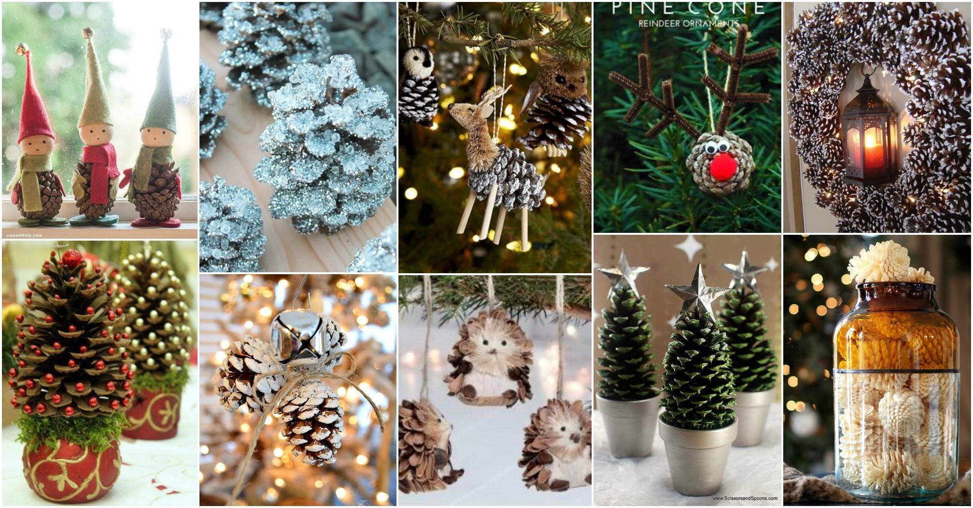 Diy Christmas Pine Cone Crafts Festive Decoration